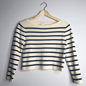 CLUB MONACO Cropped Wool Blend Sweater Small
